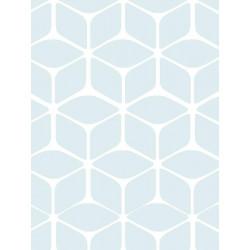 Papier peint Nelio bleu aquatique, scandinave. Graham & Brown