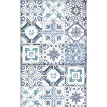 Lé unique Carreaux de ciment bleu - Bon Appétit - Caselio
