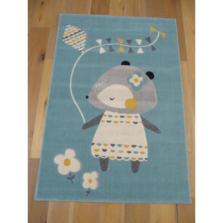 "Tapis enfant ""Petite Souris bleu"" - Canvas BALTA 120x170"