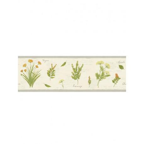 Frise Herbier fond beige - Bon Appétit - Caselio