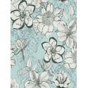 Papier peint Urban Flower bleu - URBAN FLOWERS - AS Creation - 327983