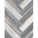 Sol PVC - Venice Tile 961M chevrons bois gris - Novo BEAUFLOR - rouleau 4M