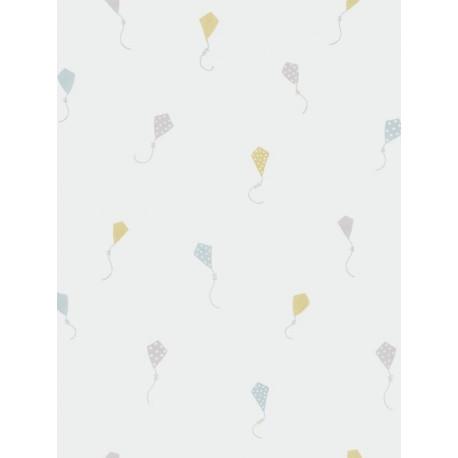 Papier peint Cerfs Volants bleu et jaune - MY LITTLE WORLD - Casadeco - MLW29746308