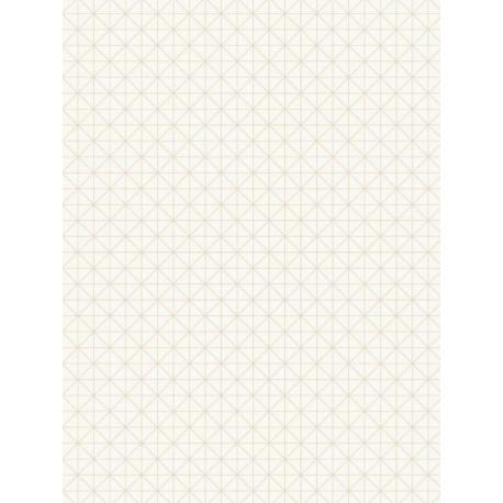 Papier peint intissé Origami blanc cuivre - TONIC Caselio