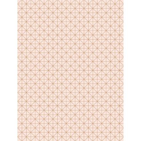 Papier peint intissé Origami rose cuivre - TONIC Caselio
