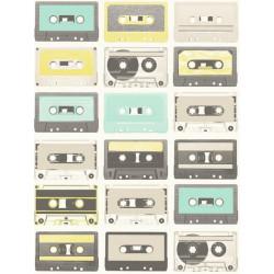 Papier peint intissé Cassettes vert - TONIC Caselio