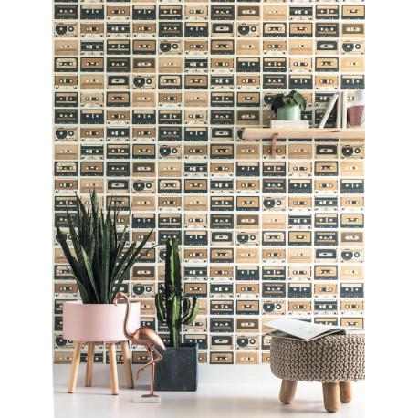 Papier peint Cassettes cuivre et gris - TONIC - Caselio - TONI69513313