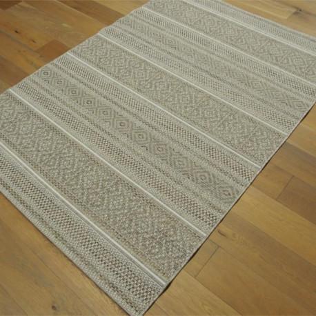 Tapis en cordes motif lignes naturel - 160x230cm - INDY