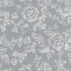 Papier peint floral gris  - Smile - Caselio