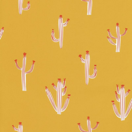 Papier peint cactus jaune  - Smile - Caselio