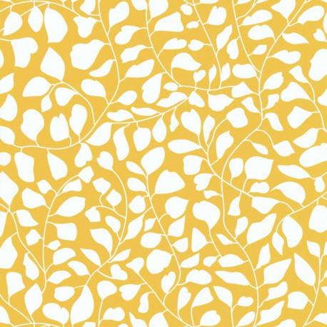 Papier peint Lianes En Folie jaune - SMILE - Caselio - SMIL69816705