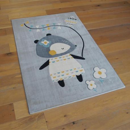 Tapis enfant Petite Souris gris - Canvas - 120x170cm