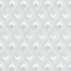 Papier peint Hexacube, gris, argent - HELSINKI - Casadeco