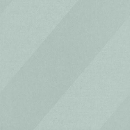 Papier peint Oblique vert et argenté - HELSINKI - Casadeco