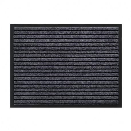 Paillasson / Tapis de propreté rayé TIMELESS gris foncé - Hamat
