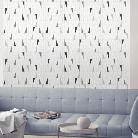Papier peint motif géométrique Triangles gris et blanc - GRAPHIQUE - UGEPA
