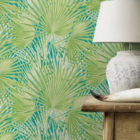 Papier peint Palmier vert  - LUCY IN THE SKY - Rasch - 803310