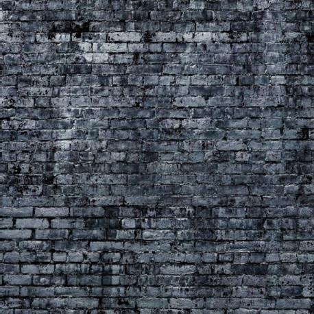 Panoramique Mur de Briques gris foncé  - FACTORY III - Rasch - 940947