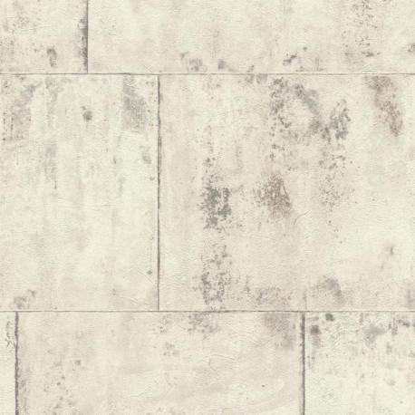 Papier peint Métal blanc - FACTORY III - Rasch - 939705