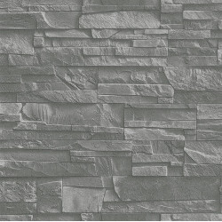 Papier peint mur de pierre gris - Factory III - Rasch
