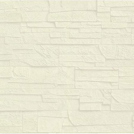 Papier peint mur de pierre beige - Factory III - Rasch