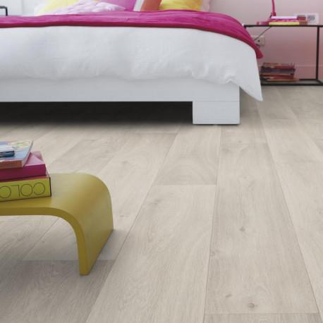 Sol PVC - Admiral Light Grey parquet gris clair - Iconik Confort TARKETT - rouleau 4M