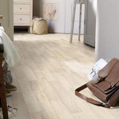 Revêtement PVC - Largeur 3m - Essential 260 - Tarkett - Imitation parquet - Robur White