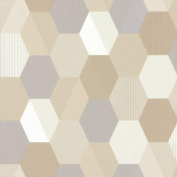Papier peint Hexagon Beige – SPACES – Caselio