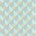 Papier peint Square Losange Bleu/Vert– SPACES – Caselio