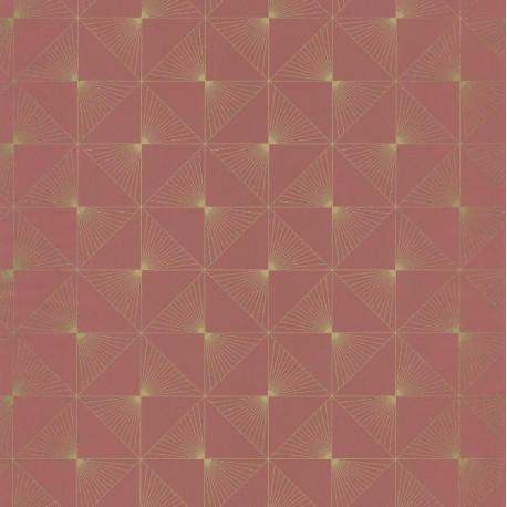 Papier peint Lines Carrés Rose – SPACES – Caselio