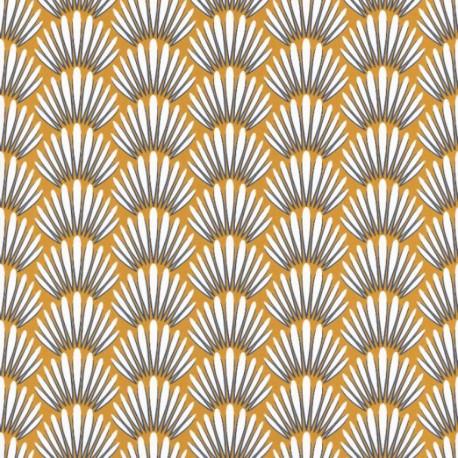 Papier peint Canopee Motifs tropicaux jaune/blanc/bleu – JUNGLE - Caselio