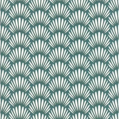 Papier peint Canopee Motifs tropicaux vert/blanc – JUNGLE - Caselio