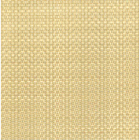 Papier peint Natte Tressage jaune – JUNGLE - Caselio