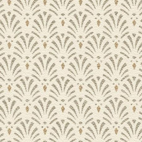 Papier peint intissé Coquilles motif art déco beige - Rasch