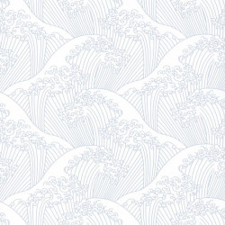 Papier peint vagues NAMI gris clair - HANAMI - Caselio