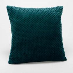 Coussin relief damier uni vert émeraude - 40x40cm - Amadeus