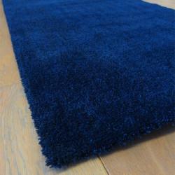Tapis extra doux uni bleu saphir - FEEL - Balta