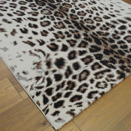 Tapis motif léopard écru et camel- 120x170cm - ELLE - BALTA