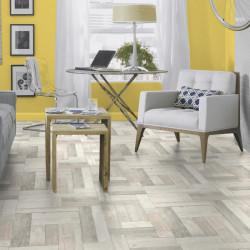 Revêtement PVC  Trend Pine blanc - Largeur 4m - TARKETT Exclusive 260 vintage
