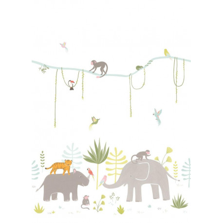 Panoramique enfant Jungle multicolore - HAPPY DREAMS Casadeco