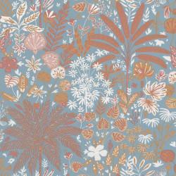 Papier peint  HOPE bleu céleste, ocre, marsala - HYGGE - CASELIO