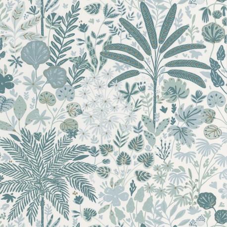 Papier peint  HOPE vert d'eau, blanc - HYGGE - CASELIO