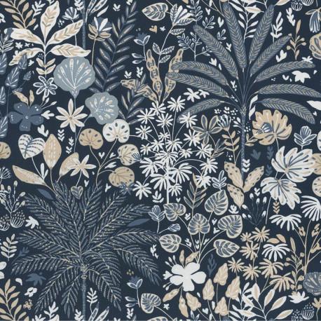Papier peint Hope bleu nuit et doré - HYGGE - Caselio - HYG100596913