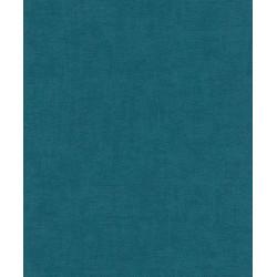 Papier peint intissé uni bleu paon - Rasch