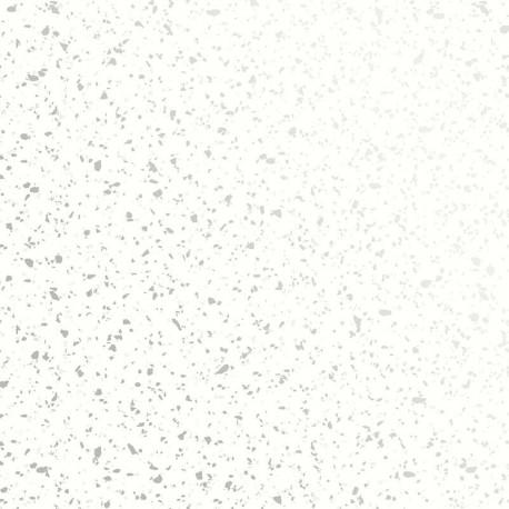 Papier peint ARENDAL blanc argent - TERENCE CONRAN- LUTÈCE