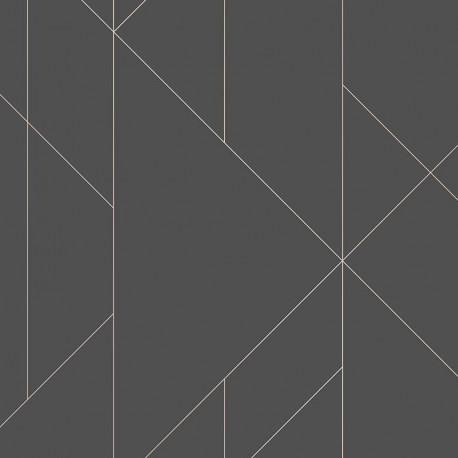Papier peint TORPA noir rose doré- TERENCE CONRAN- LUTÈCE