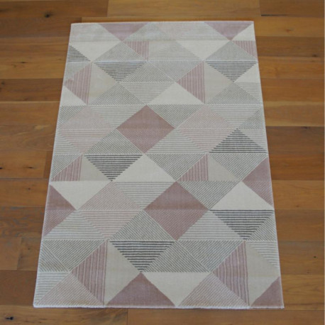Tapis triangles gris et rose poudré - OPERA - Balta