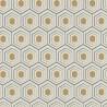 Papier peint vinyl sur intissé ALVEOLE or, beige, noir - FOUR SEASON - Lutèce