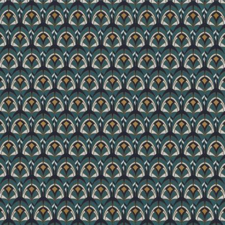 Papier peint Gemmail bleu anglais - PORTFOLIO - Casamance - 74000492