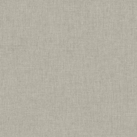 Papier peint uni gris taupe clair - LINEN - Caselio